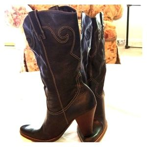 Shoes - Black Western Inspired Boots
